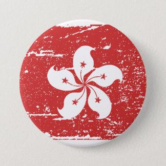 Vintage Hong Kong Flag 7.5 Cm Round Badge