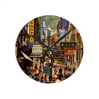 Vintage Hong Kong Round Clock