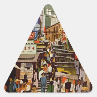 Vintage Hong Kong Triangle Sticker