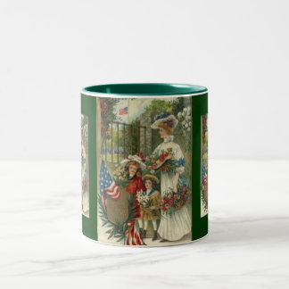 Vintage Honoring Memorial Day Two-Tone Mug