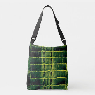 "VINTAGE ""HORNBACK"" ALLIGATOR BAG DARK LETTUCE"