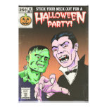 Vintage Horror Comic Halloween Party Invitation