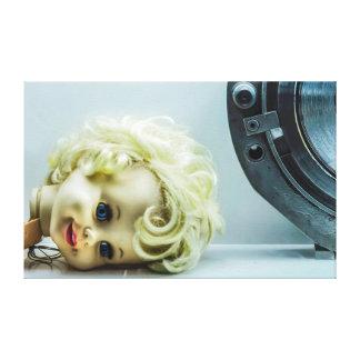 Vintage Horror Gothic Broken Doll Head Canvas Print