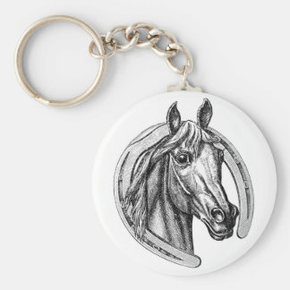 Vintage Horse and Horseshoe Keychain