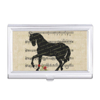 Vintage Horse and Music Sheet Business Card Holders