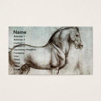Vintage Horse Art Business Card
