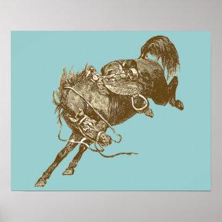 Vintage Horse Art Poster