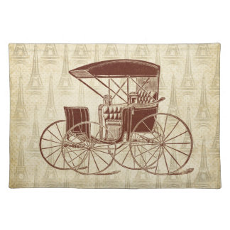 Vintage Horse Carriage in Paris Placemat
