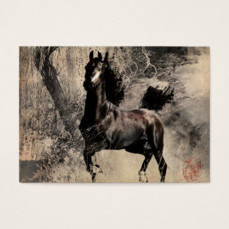 Vintage Horse - Chinese Painting Art Business Card