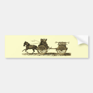 Vintage Horse Drawn Fire Engine Illustration Bumper Stickers