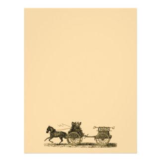 Vintage Horse Drawn Fire Engine Illustration Flyer Design