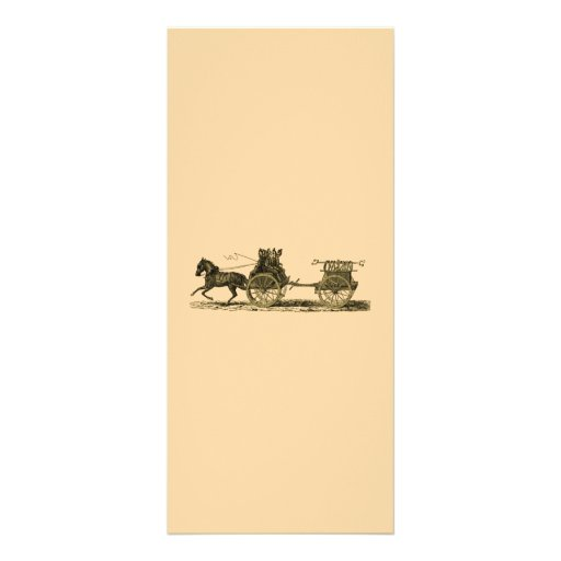 Vintage Horse Drawn Fire Engine Illustration Personalized Rack Card