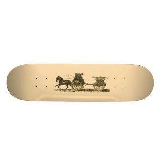 Vintage Horse Drawn Fire Engine Illustration Skate Board Decks