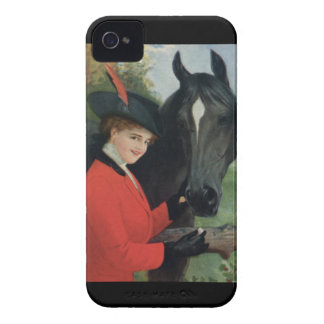Vintage Horse Equestrian Red Riding Jacket Case-Mate iPhone 4 Case