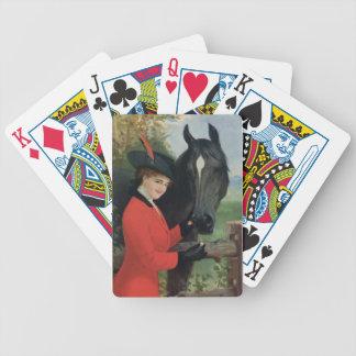 Vintage Horse Image Equestrian Red Riding Coat Poker Deck