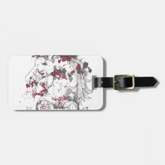 vintage horse luggage tag