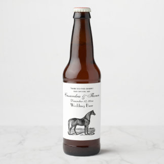 Vintage Horse Standing Beer Bottle Label