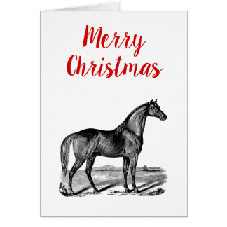 Vintage Horse Standing Card