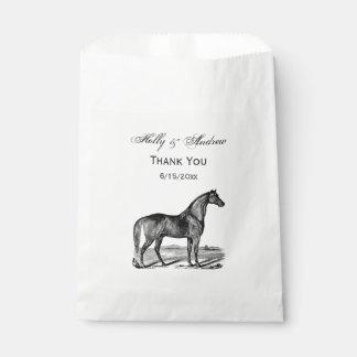 Vintage Horse Standing Favour Bag