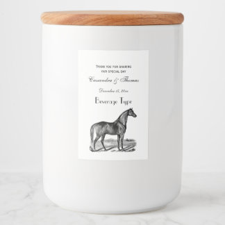 Vintage Horse Standing Food Label