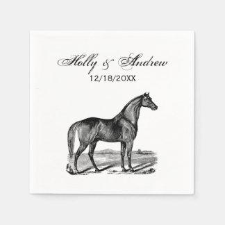 Vintage Horse Standing Paper Napkin