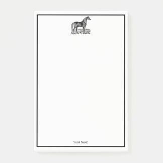 Vintage Horse Standing Post-it Notes