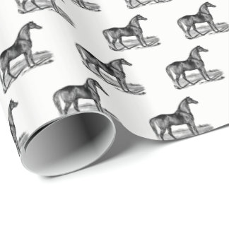 Vintage Horse Standing Wrapping Paper