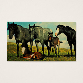 Vintage Horses Business Cards