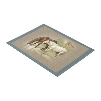 Vintage Horses Country Farm and Pets Doormat