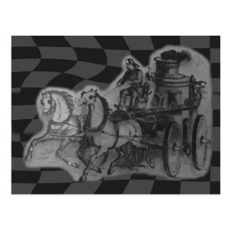 Vintage Horses Drawn Fireman Postcard