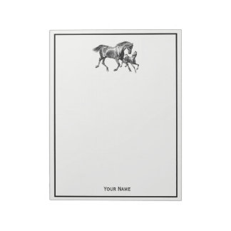Vintage Horses Mother Baby Foal Notepads