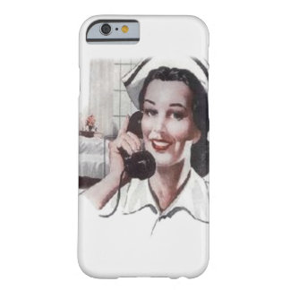 Vintage Hospital Ward Nurse on Telephone Barely There iPhone 6 Case