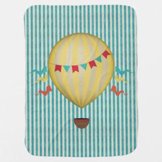 Vintage Hot Air Ballon Baby Blanket