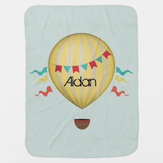 Vintage Hot Air Balloon Baby Blanket