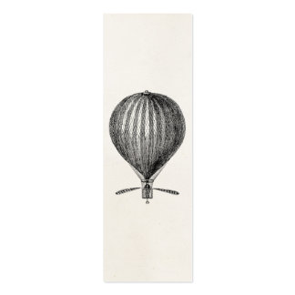 Vintage Hot Air Balloon Retro Airship Balloons Pack Of Skinny Business Cards
