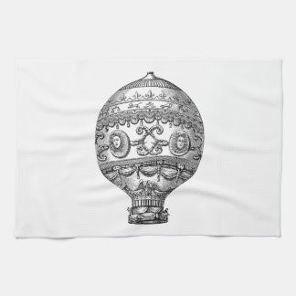 Vintage Hot Air Balloon Retro Airship Old Balloons Tea Towel