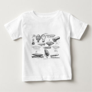 Vintage Hot Air Balloon Retro Balloons Template Baby T-Shirt