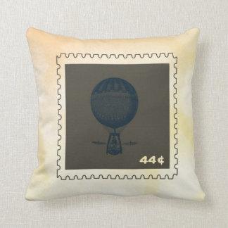 Vintage Hot Air Balloon Stamp Cushions
