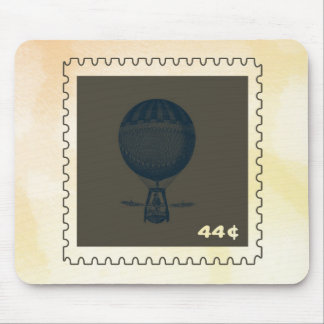 Vintage Hot Air Balloon Stamp Mouse Pad