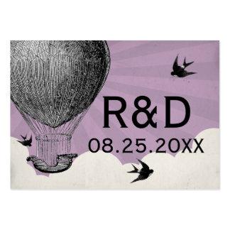 Vintage Hot Air Balloon Wedding Place Card Business Card Templates
