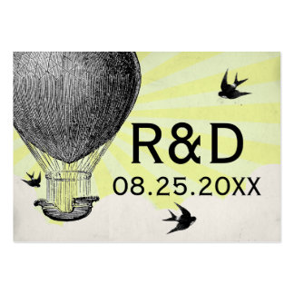 Vintage Hot Air Balloon Wedding Place Card Business Card Template
