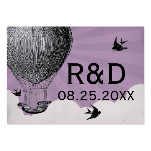 Vintage Hot Air Balloon Wedding Place Card Business Card Templates