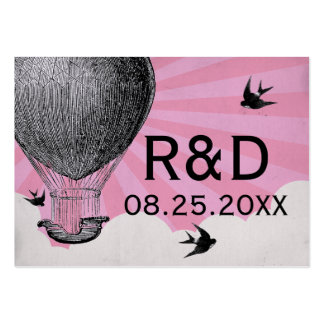 Vintage Hot Air Balloon Wedding Place Card Business Card