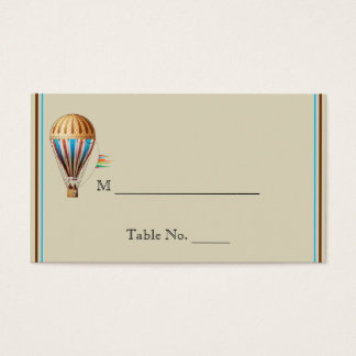 Vintage Hot Air Balloon Wedding Place Cards