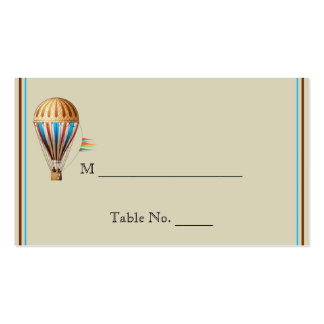 Vintage Hot Air Balloon Wedding Place Cards Pack Of Standard Business Cards