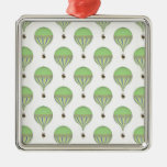 Vintage Hot Air Balloons in Lt Green Yellow Blue