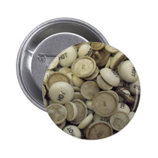 Vintage Hot and Cold Porcelain Knobs 6 Cm Round Badge