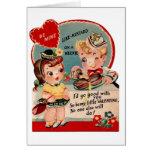 Vintage Hot Dog and Mustard Valentine Greeting Card