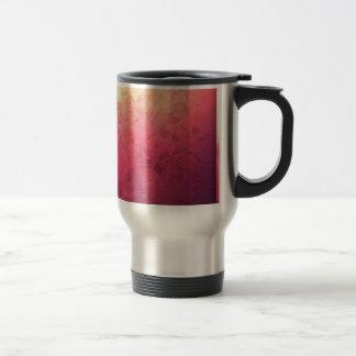 Vintage Hot Pink Grunge Floral Multicolor Pattern Stainless Steel Travel Mug