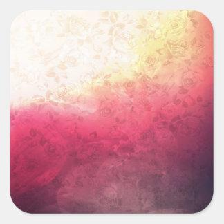 Vintage Hot Pink Grunge Floral Multicolor Pattern Sticker
